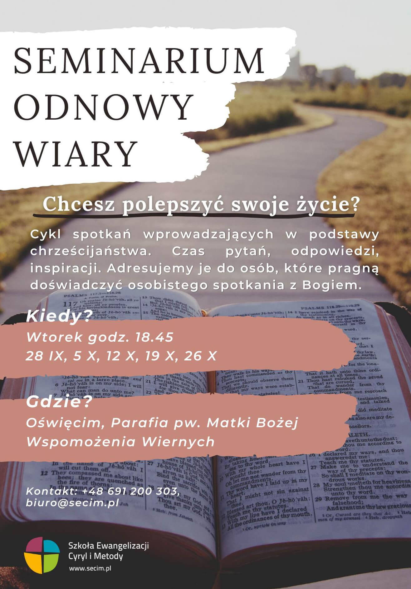 Seminarium Odnowy Wiary plakat